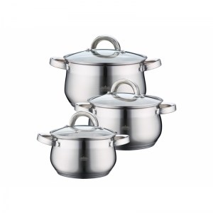 Peterhof PH-15759; Stainless Steel Cookware Set 6pcs