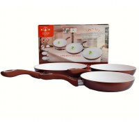 3 Piece Set pans ceramic coated; Thickness: 4.5mm
