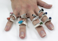 Silver 925 Rings with ‎stones‎