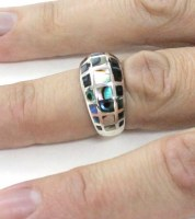 Silver 925 Ring with abulon