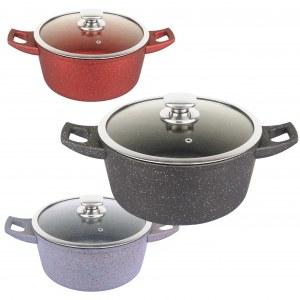 Royalty Line RL-FC32CM;Marble Soup Pot 32cm Black