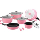 Royalty Line RL-HS1014M; Cookware set with marble coating 14 pcs