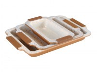 Royalty Line RL-RP3MC; Roasting Pan with marble coating 3PCS