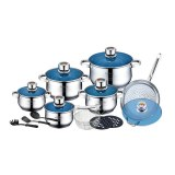 Roylty Line RL-1801B; Stainless Steel Cookware Set 18 Pcs