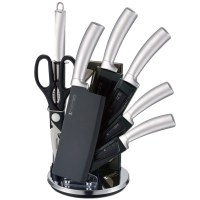 Imperial Collection IM-SHN8: 8 Pieces Knife Set with Stand Silver