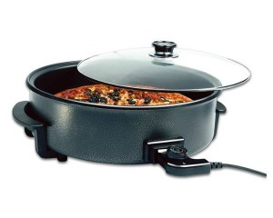 Smart Line SL-PP040B; Pizza Pan with non stick coating 42cm