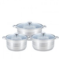 Smart Line SL-S303; 6pcs Stainless Steel Cookware Set