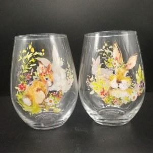 20oz Sunny Bunny Stemless Wine Glass and Juice Glass Stock