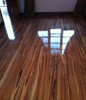 High glossy laminated wooden flooring
