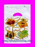 Block loop handle bag print many colors