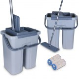 Cenocco CC-9070: Flat Mop with Bucket Gray