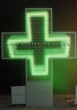 3D Effect LED Pharmacy Cross