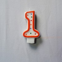 Number candle, numeral candle, cake candle, party candle