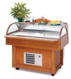 Freezer buffet fish with ice flakes maker