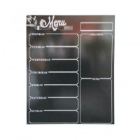Memo and Calendar Magnetic Refrigerator Black Dry Erase Board