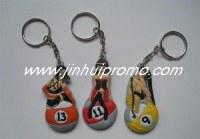 New design fashion silicone key chain