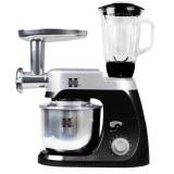 Herzberg HG-5029:3 in 1800W Stand Mixer With Planetary Beating Action Black