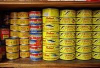 Canned mackerel in brine