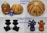 Pumpkin Lamp Candle holder - Fanco Stocklots