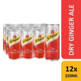 Schweppes Tonic Water 330ml Sleek Can/ Soft Drinks/ Cabonated Drinks/ Canned Drinks
