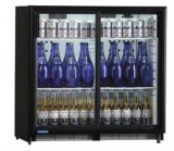 Bottle cooler 200 bottles ventilated-sliding doors