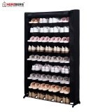 Herzberg HG-8077: 9-Tier Shoe Rack Organizer Black