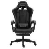 Herzberg HG-8080: Racing Car Style Ergonomic Gaming Chair Black