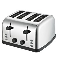 Daewoo SYM-1304: Wide Stainless SteelBread Toaster - 4 Drawer, 4 Slice