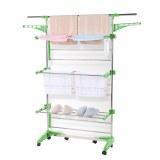 Herzberg HG-5015; Moving Clothes Rack Green