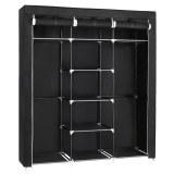 Herzberg HG-8011: Storage Wardrobe - Medium Black