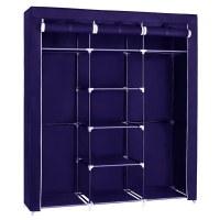 Herzberg HG-8011: Storage Wardrobe - Medium Blue