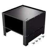 Herzberg HG-WP2: Universal Washing Machine Pedestal with Storage Compartment Black