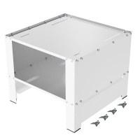 Herzberg HG-WP2: Universal Washing Machine Pedestal with Storage Compartment White