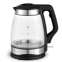 Herzberg HG-5044: 1.8L Electric Glass Kettle With LED Light Indicator