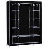 Herzberg HG-8009: Storage Wardrobe - Large Black