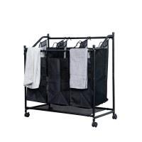 Herzberg HG-8078: Rolling Laundry Hamper Sorter & Organizer