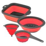 Herzberg HG-L630: 4 Pieces Strainer & Funnel Set