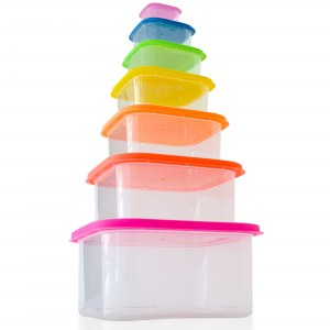 Herzberg 7-in-1 Square Food Storage Container Set