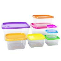 Herzberg HG-SFS8N1: 8-in-1 Square Food Storage Container Set