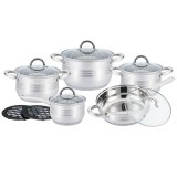 Kitchen Pro Plus KP-1252: 12-Pieces Stainless Steel Cookware Set