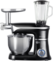 Royalty Line PKM-1900.7BG; 3 in 1 food processor with 1900 watts max Black