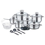 Royalty Line RL-1802: 18 Pieces Stainless Steel Cookware Set w/ Various Utensils