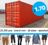 CONTAINER offer: Mens clothing wholesale £1.70