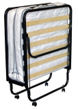 Folding bed size 80X200 cm, metal structure, with wheels, included with mattress H. 11...
