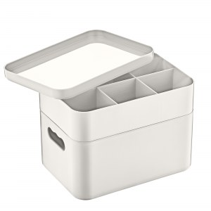 Herzberg HG-OKY676: 2 Layer Multipurpose Organizer Box Gray