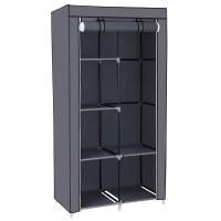 Herzberg HG-8010: Storage Wardrobe - Small Gray