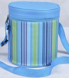 Fashionable style stripe pattern lunch box bag
