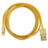 Wholesale Gold Plating USB Sync Data / Charging Cable for iPhone 5 & 5S