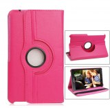 """360˚ Rotation Case Cover for 10.1"""" Samsung T530 Galaxy Tab 4- Rose Red SKU: MKC-13518"""